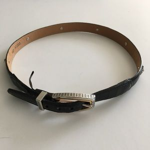 """Brighton Black Leather Belt with Hearts M 30"""""""